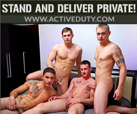 At Active Duty we specialize in military gay porn with real straight soldiers, marines and sailors. Watch naked military men have real gay sex on ActiveDuty.com. Active Duty is military classified and Dink Flamingo is on pursuit!